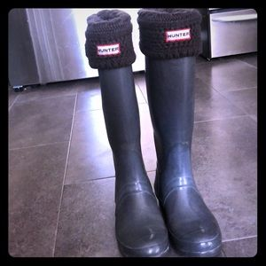 Hunter boots and socks